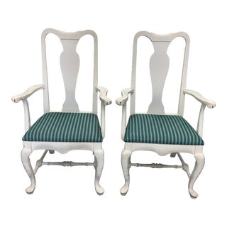 Pair of Brockschmidt & Coleman White Armchairs For Sale