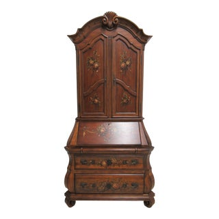 1990s French Ethan Allen Tuscany French Louis XV Bombay Secretary Desk For Sale