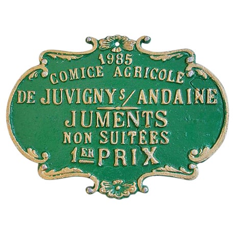 Vintage 1985 French Agriculture Trophy Award Prize - Image 1 of 3