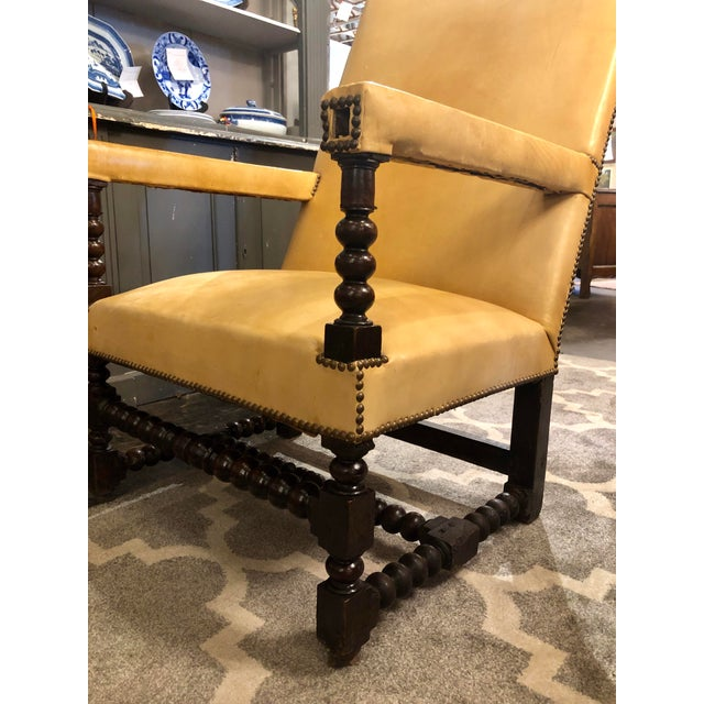 Louis XIII Period Arm Chair For Sale - Image 4 of 7