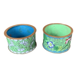 Cloisonne Napkin Rings - a Pair For Sale