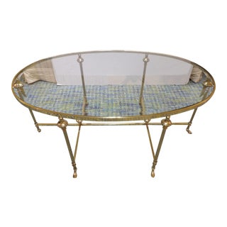 Contemporary La Barge Hoofed Oval Coffee Cocktail Table For Sale