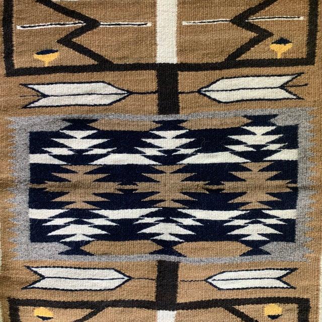"""1960s Vintage Navajo Pictorial Rug-2'4'x3'8"""" For Sale In Denver - Image 6 of 13"""