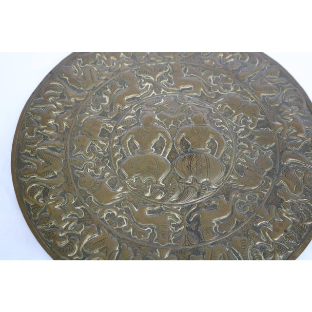 18th Century 18th Century Antique Brass Plaque For Sale - Image 5 of 8