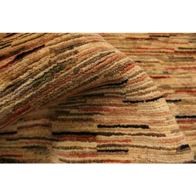 1990s Boho Chic Gabbeh Peshawar Tena Tan/Rust Hand-Knotted Wool Rug -3'2 X 4'10 For Sale - Image 5 of 8