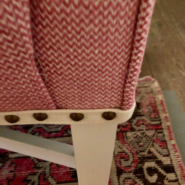 2010s Pink Upholstered Oomph Tini X Bench For Sale - Image 5 of 13