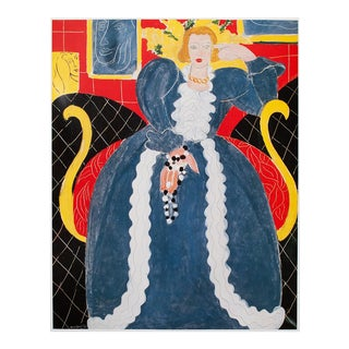 """1994 Henri Matisse """"Lady in Blue"""" First Edition Poster For Sale"""
