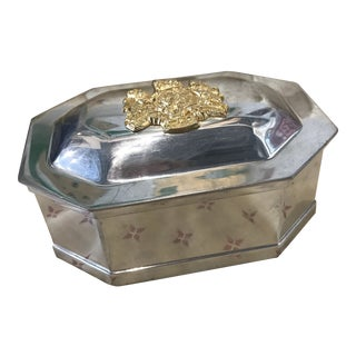 Kirk Stieff Pewter Box With Shield For Sale