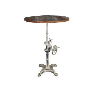 Rustic Iron Tallis End Table For Sale