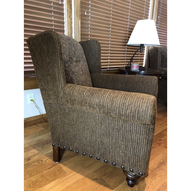 American Modern Paladin Wingback Chairs- A Pair For Sale - Image 3 of 8