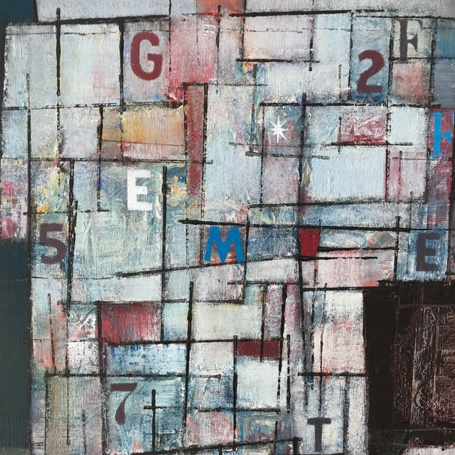 Abstract Stanley Bate, Newstand Painting, Circa 1960 For Sale - Image 3 of 7