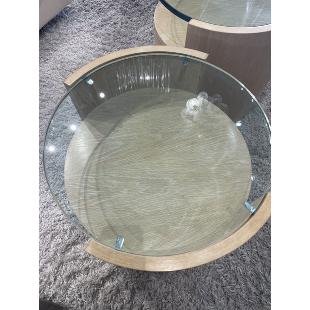 Tan 1980s Jay Specter Signed Round Side Tables - a Pair For Sale - Image 8 of 11