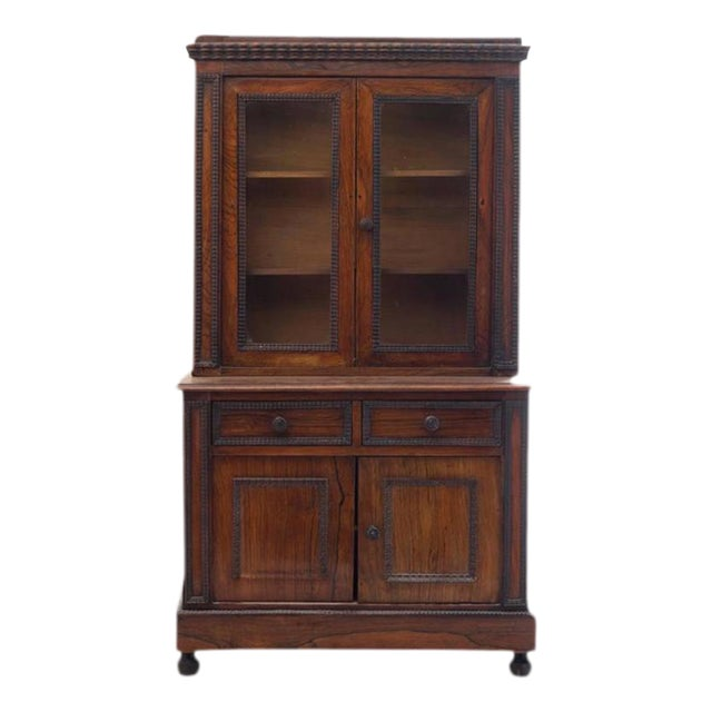 Charming Diminutive 19th Century English Rosewood Step-back Cupboard For Sale