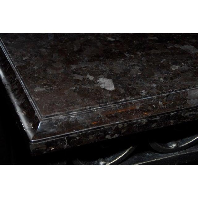 Art Nouveau Cast Iron Console For Sale - Image 3 of 5