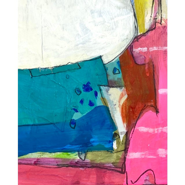 Loads of layers and lots of texture. Acrylic, gouache, collage, charcoal, crayons, marker and ink on gallery wrapped...