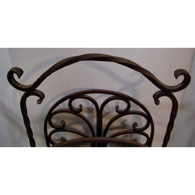 1940s Old Heavy Cast Iron Log/Magazine Rack For Sale - Image 5 of 9