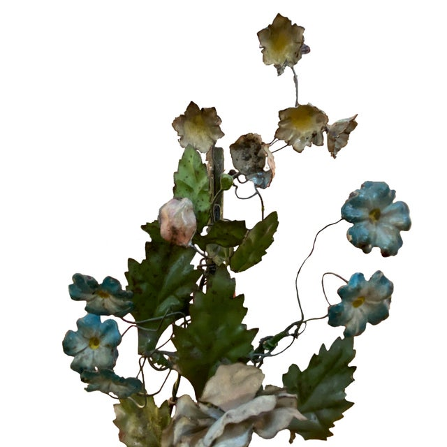 19th Century French Tole Floral Topiaries - a Pair For Sale In Dallas - Image 6 of 7