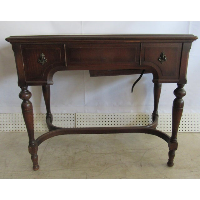 White Sewing Machine Co Mount Vernon library table sewing cabinet, vanity model, one drawer. Includes White rotary sewing...