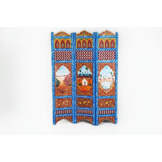 Moroccan Blue 3 Panel Screen - Image 6 of 6