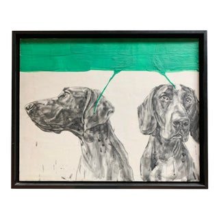 """Gestural Contemporary """"Hounds"""" Oil on Canvas Painting For Sale"""