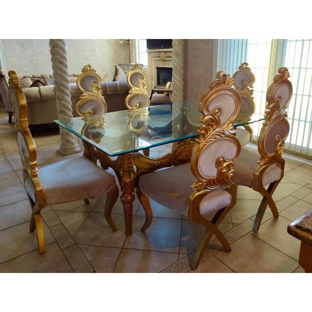 Gold Ivory & Gold Italian Baroque Dining Set For Sale - Image 8 of 8