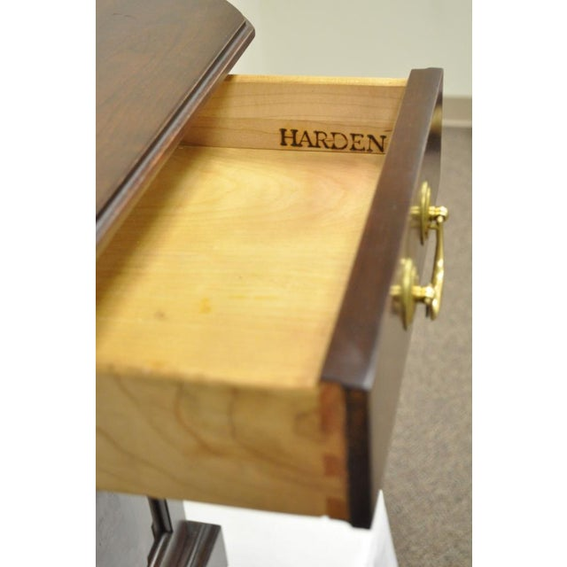 Vintage Harden Solid Cherry Octagonal Storage Cabinet Occasional Side End Table For Sale - Image 5 of 11