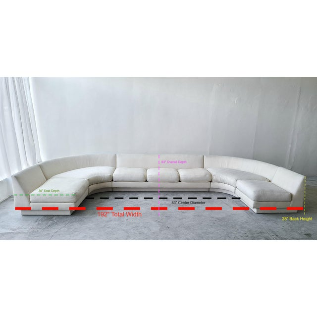Monumental Curved Modular Sectional Sofa by Directional For Sale In Las Vegas - Image 6 of 9