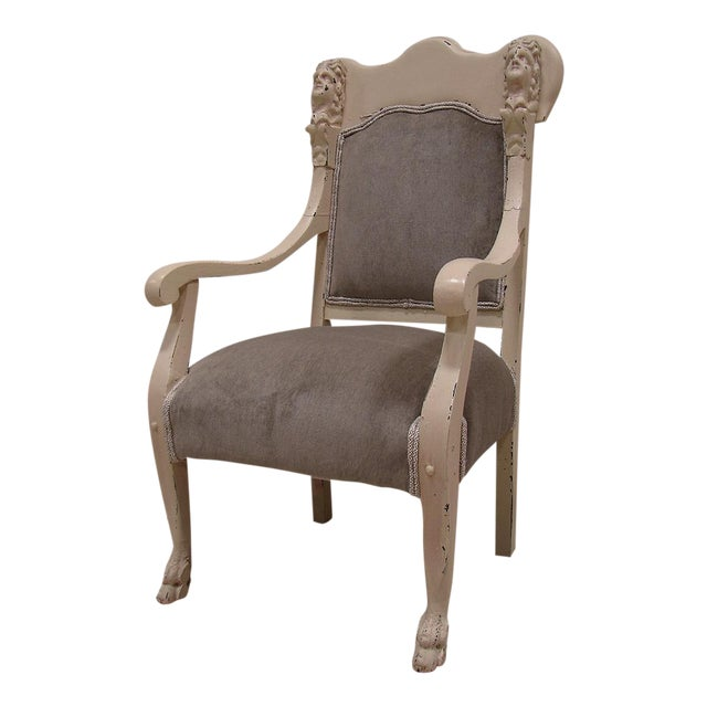 Vintage Antique Victorian Upholstered Chair - Image 1 of 5