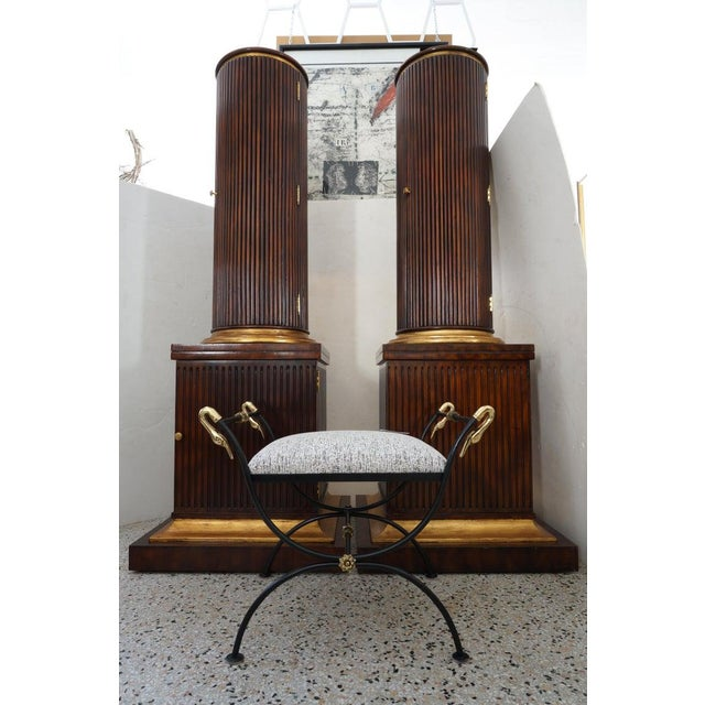 Vintage English Regency Style Cabinets Column High Pedestal Form - a Pair For Sale - Image 9 of 10