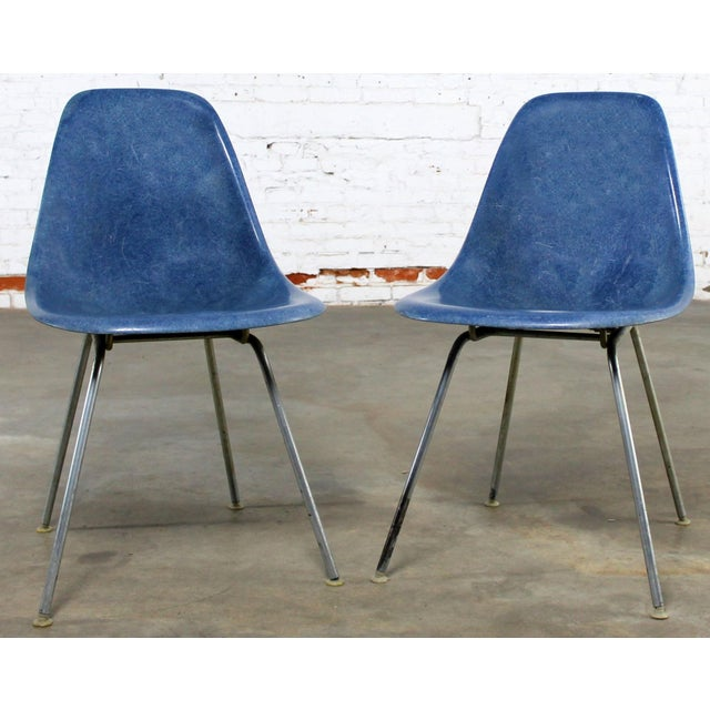 Vintage Herman Miller Eames Molded Fiberglass DSX Chairs - A Pair - Image 2 of 11