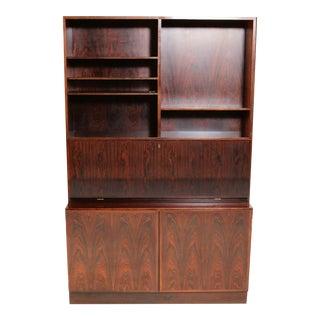 Mid Century Modern Gunni Omann Restored Danish Rosewood Bookcase by Omann Jun For Sale