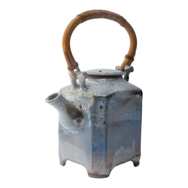 Mid Century Art Studio Ceramic Teapot For Sale