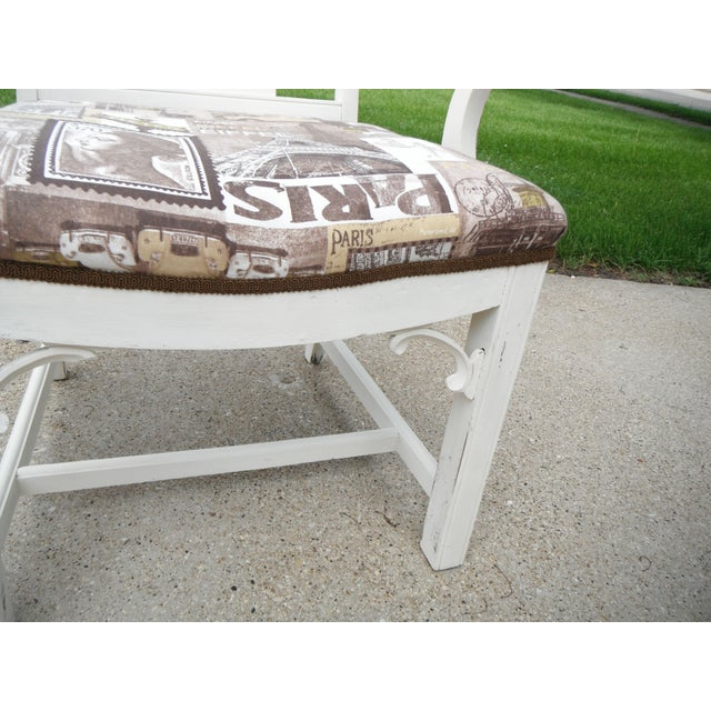 Shabby Chic Chippendale Style Captains Chair - Image 7 of 8