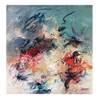 """Contemporary Abstract Acrylic Painting """"Been there & Loved it"""" by Mary Lou Siefker For Sale"""