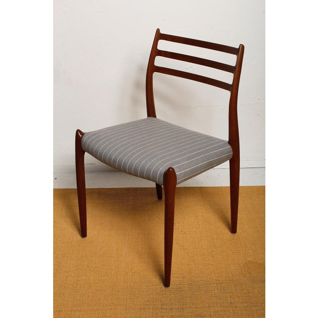 Wood Fully Restored 1960s Teak Dining Chairs by Niels O. Møller-Set of 6 For Sale - Image 7 of 13
