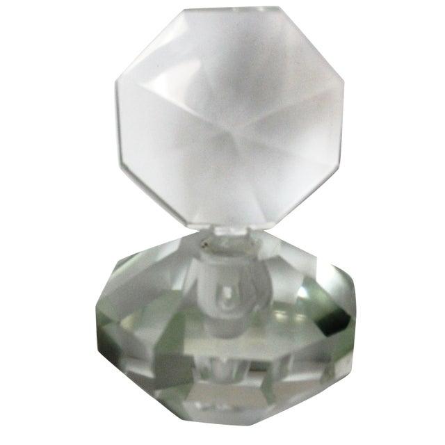 Art Deco Crystal Perfume Bottle - Image 1 of 4
