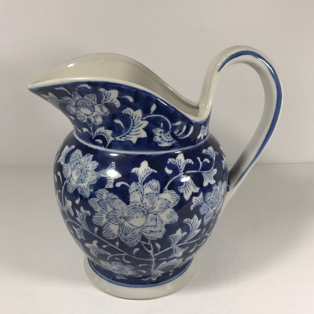 Chinoiserie Blue and White Pitcher - Image 2 of 11