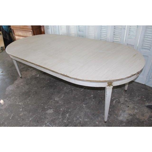 Gold Leaf 18th Century French Provincial Oval Dining Table For Sale - Image 7 of 8