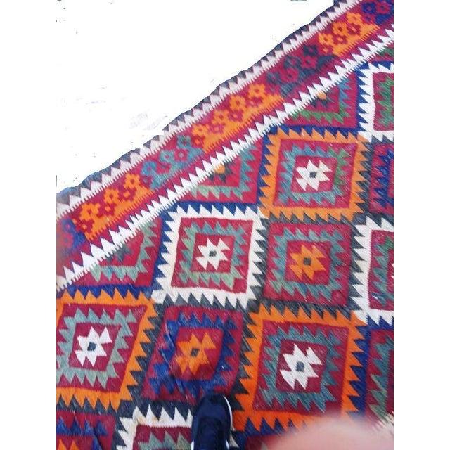 Rug & Kilim Vintage Handwoven Caucasian Kilim Rug - 5′ × 16'′ For Sale - Image 4 of 5