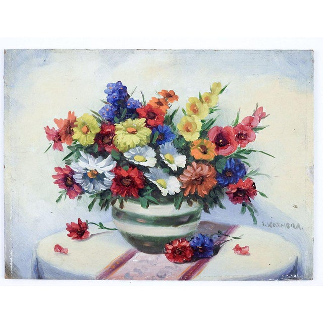 Cottage Wild Flower Still Life Painting For Sale - Image 3 of 4