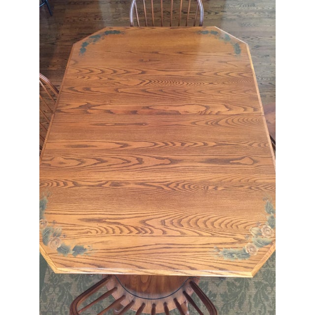 Unique quality and craftsmanship of the famed Hitchcock Chair Company, Oak, Harvest Stain, Good Condition, One Owner,...