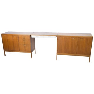 Pair of Cabinets With Detachable Floating Desk For Sale