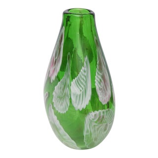 Heavy Murano Green Vase, Italy, 1960s For Sale