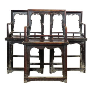1910s Antique Asian Chairs - Set of 3 For Sale