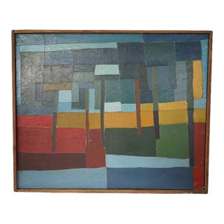 Mid-Century Abstract Painting For Sale