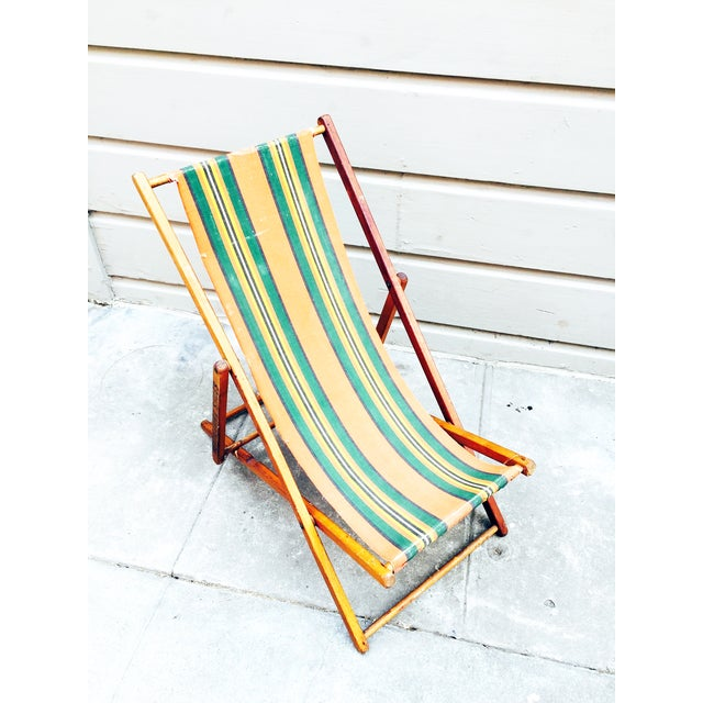 Antique Folding Beach Chair - Image 3 of 6