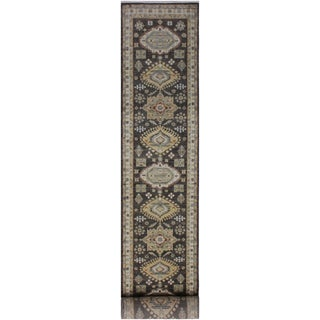 Shabby Chic Forest Brown/Ivory Hand-Knotted Wool Rug - 2'8 X 13'4 For Sale