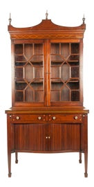 Image of Newly Made Mahogany China and Display Cabinets
