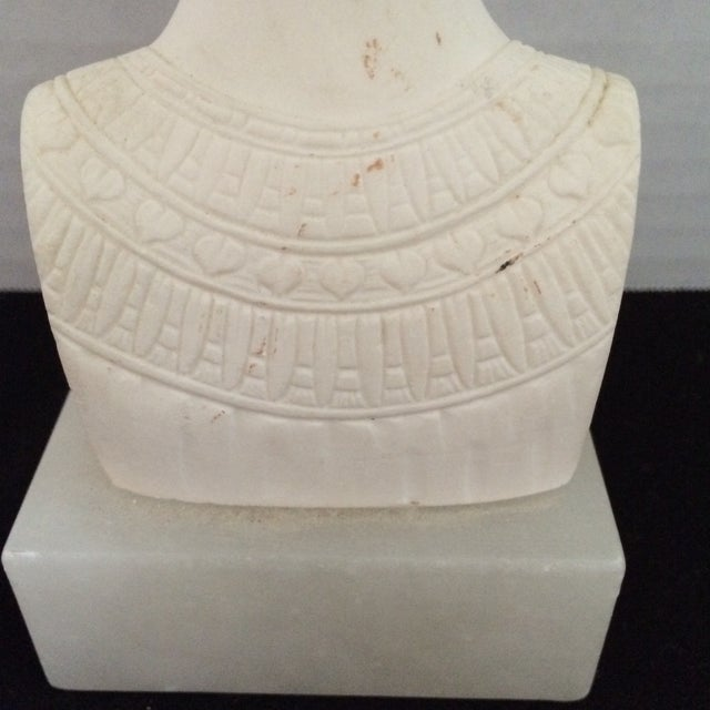 Signed Plaster Bust of Nefertiti on Alabaster Base - Image 5 of 8