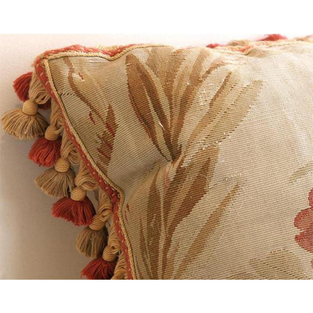 Antique Aubusson Pillow For Sale In New Orleans - Image 6 of 6